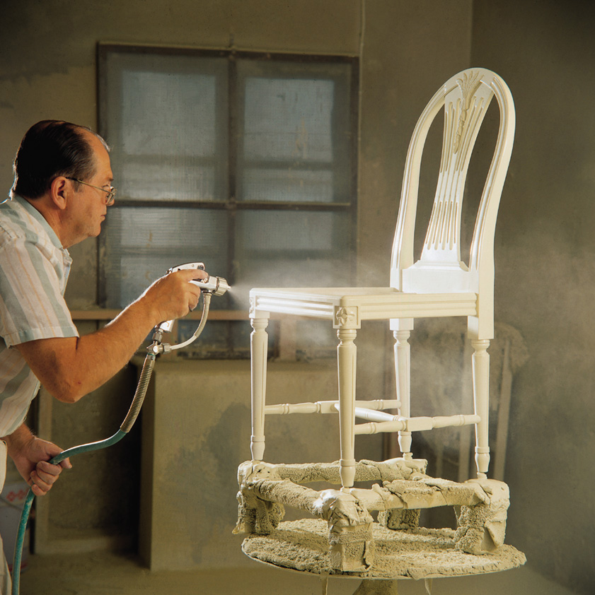 Spray paint on chair