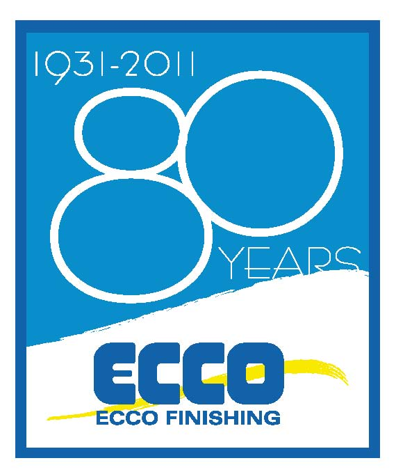 Logotype for Ecco celebrating 80 years